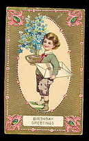 Lovely 1907 Birthday Boy Greetings Postcard