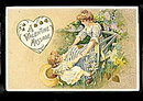 Lovely Winsch Schmucker Girls Valentine's Day Postcard