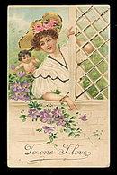 Lovely International Arts Valentine's Day 1906 Postcard