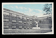 1930 Paxton, IL Paxton Community High School Postcard