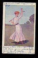 F Earl Christy 'Woman Golfer' 1908 Postcard