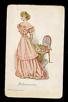 Lovely P Gordon 'Debutante' 1908 Postcard