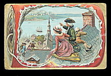 Tuck's Independence Day Bunker Hill 1907 Postcard