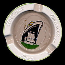 Holland-America Lines Ship Ashtray