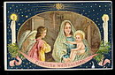 Gorgeous Christmas Angels 1907 Postcard