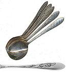 6 Carlton Silverplate 'Cherie' Bouillon / Soup Spoons