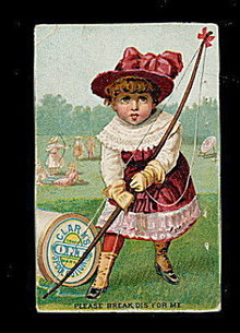 1880's Clark's O.N.T, Thread Girl Archer Trade Card