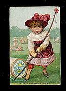 1880's Clark's O.N.T, Thread Girl Archer Trade Card