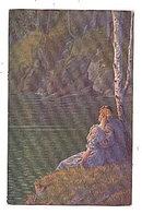 Lovely Arthur Thiele Couple on Lake 1907 Postcard