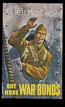 "1940s ""Buy More War Bonds"" WWII Postcard"