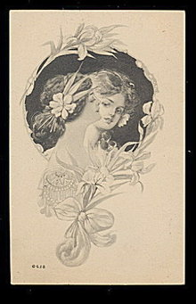 Lovely 1907 G & B Girls Artist Drawn Postcard