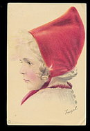 Lovely Signed 'Fugel' Dutch Girl Postcard