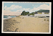 Waldameer Park, PA, Waldameer Beach 1920 Postcard