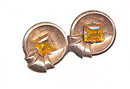 Lovely Sterling Silver & Yellow-Orange Stone Earrings