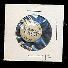 1935 Syracuse NY Community Chest Pinback