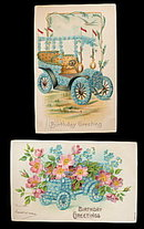 2 1910 Forget Me Not Birthday Autos Postcard