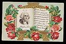 1907 George Washington Amid Roses Postcard