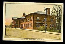 1907 Grand Rapids, MI, Union Railroad Depot Postcard