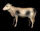 2 Vintage Composition Animals - Cow & Calf