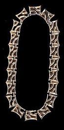 """Lovely 14"""" Goldtone Wave Link Choker Necklace"""