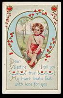 Child Cherub 1914 Valentine's Day Postcard