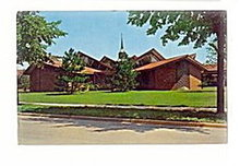 Midland, MI, St. Johns Lutheran Church 1950s Postcard