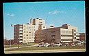 Flint, MI, Mc Laren General Hospital 1950s Postcard