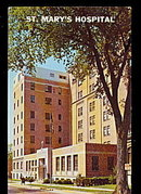 Grand Rapids, MI, St. Marys Hospital 1950s Postcard
