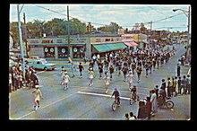 Hazel Park, MI, 1966 Memorial Day Parade Band Postcard