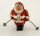 """B195 Barclay """"Santa Claus on Skis"""" ca 1935"""