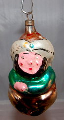 1930s Glass Genie Christmas Ornament