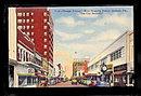 Orlando, FL, Orange Ave, 1930s Street View Postcard