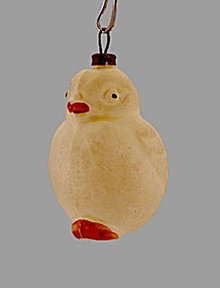 Early 1900s Blown Glass Bird (Chick) Ornament