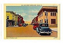 Salem, VA, Main Street Looking West 1930s Postcard