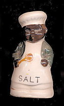 Early Black Americana Salt Shaker - Ceramic