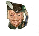 Royal Doulton 'Robin Hood' Mini Character Toby Jug