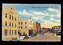 Couer dAlene, ID, Sherman Avenue 1930s-1940s Postcard