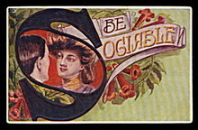 "1912 ""Be Olgable"" Girl with S Postcard"