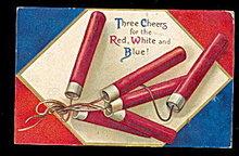 1908 July 4th Ellen Clapsaddle Fireworks Postcard
