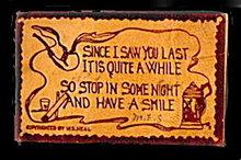 1906 'Since I Saw You Last...' Leather Postcard