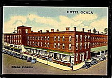 Ocala, FL, Hotel Ocala, 1930s Postcard