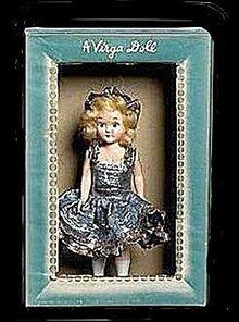 Virga Doll Hard Plastic 1950s Ice Skating Queen