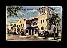 Clearwater, FL, First Methodist Church 1930s Postcard