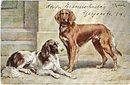 Lovely 1910 Spaniels (Dogs) Artist Postcard