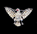 Vintage Rhinestone Full Winged Eagle Pin