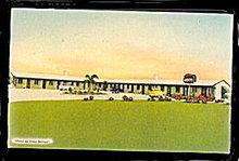 Kendall, FL, Poinsettia Motel 1950s Postcard