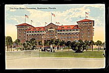 Seabreeze, FL, The New Hotel Clarendon 1916 Postcard