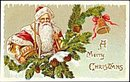 Lovely Santa Claus in Pine Cone 1908 Postcard
