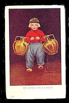 1908 Bernhardt Wall 'Little Water Carrier' Postcard