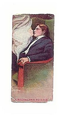 1910 'A Bachelor's Reverie' MDS Glamour Lady Postcard